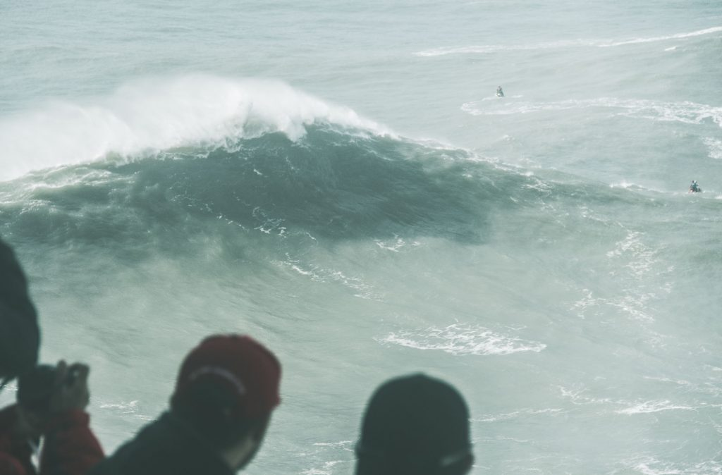 nazare tow-in session