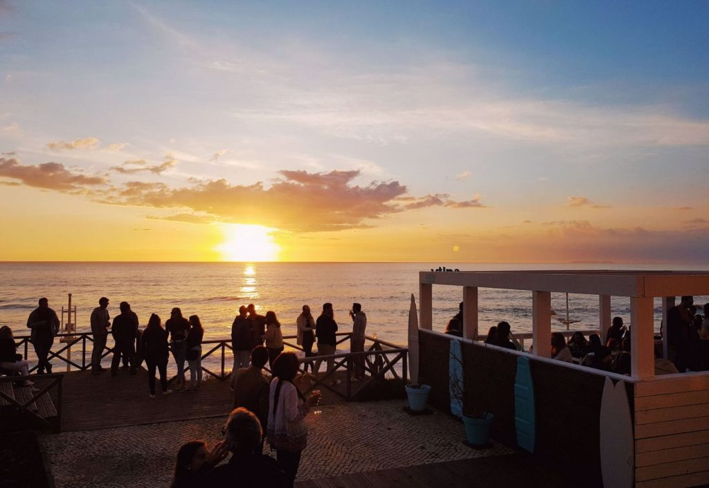 sunset sessions at salty beach bar